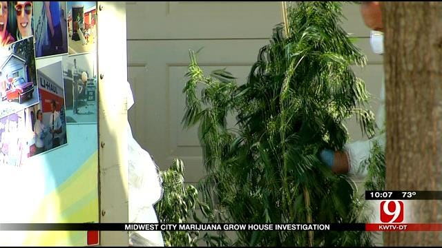 Midwest City Police Investigating Marijuana Grow Operation