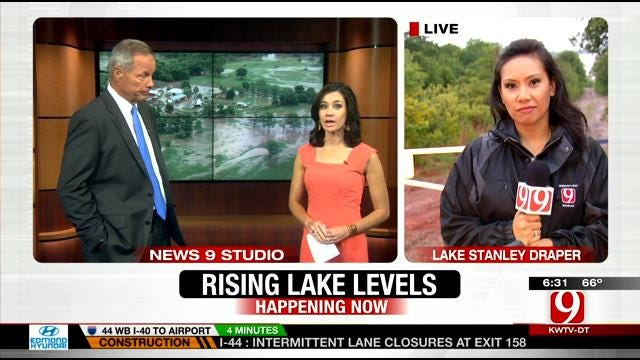 High Water Level Restricts Access To Parts Of Lake Stanley Draper