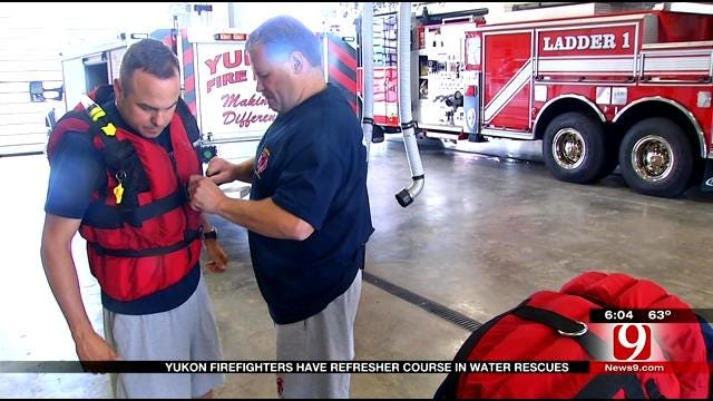 Yukon Firefighters Have Refresher Course In Water Rescues