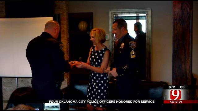 Four Oklahoma City Police Officers Honored For Service