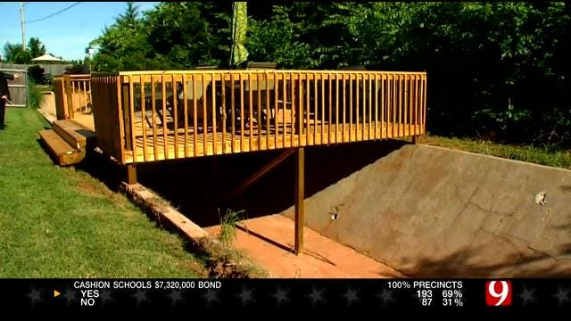 Residents In SW OKC Concerned About Compromised Drainage Canal