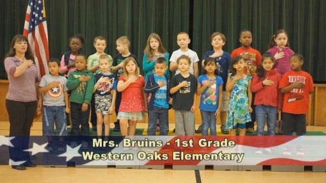 Mrs. Bruins' 1st Grade Class At Western Oaks Elementary School