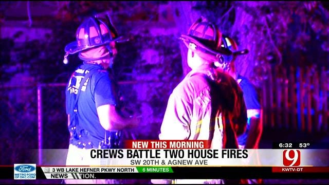 Firefighters Extinguish Two Overnight House Fires In OKC Metro