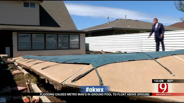 Flooding Causes Metro Man's Pool To Pop Up Out Of The Ground