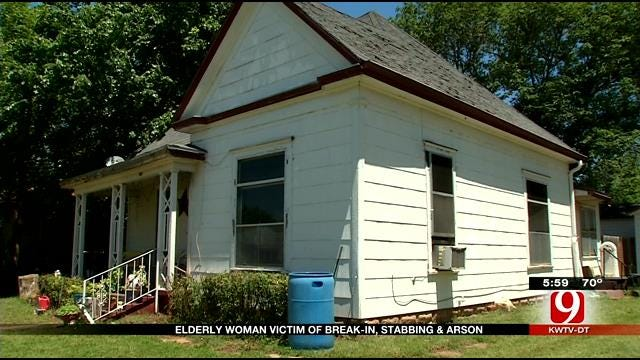 Elderly Chickasha Woman The Target Of Attempted Burglary, Stabbing & Arson