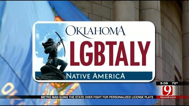 Oklahoma City Man Suing State In Fight Over Pro-LGBT License Plate