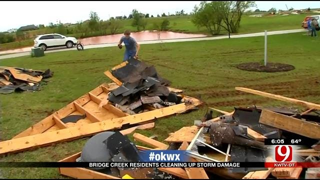 Bridge Creek Residents Cleaning Up Storm Damage