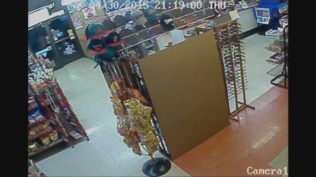WEB EXTRA: Police Seek Man Who Robbed OKC Convenience Store At Knife Point