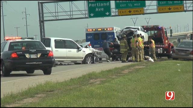 WEB EXTRA: Multi-Vehicle Collision Reported In Northwest OKC