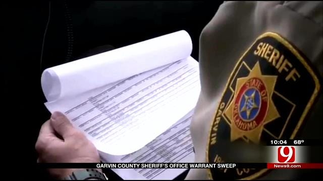 30 Arrests Made During Garvin County Warrant Sweep