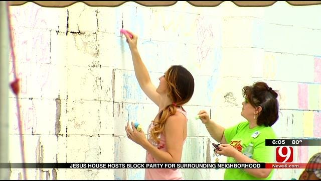 OKC's Jesus House Holds 'Block Party' Offering Food, Services & Prayer