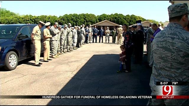 Hundreds Gather For Funeral Of Homeless Oklahoma Veteran