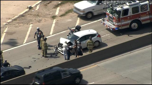 Emergency Crews Respond To Injury Accident At SB Broadway Extension