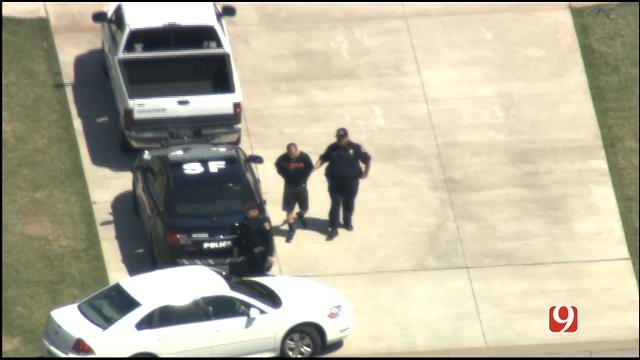 News 9 Exclusive Video: OKC Officer Arrested In Mustang