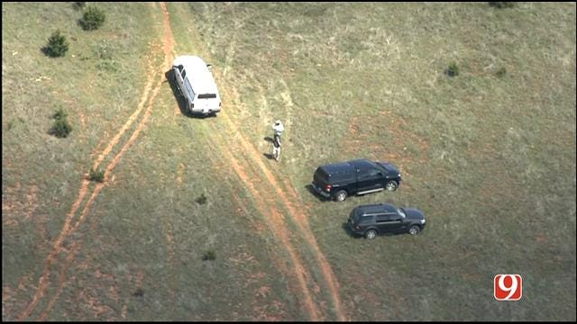 WEB EXTRA: SkyNews 9 Flies Over Investigation After Skull Found In McClain County