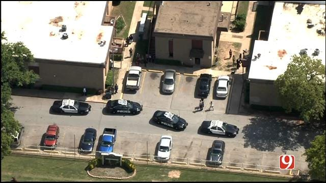 WEB EXTRA: SkyNews 9 Flies Over Deadly Shooting In NW OKC