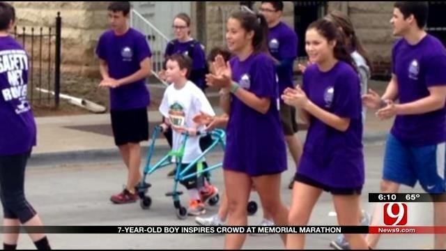 Oklahoma Boy With Cerebral Palsy Finishes Kids Marathon