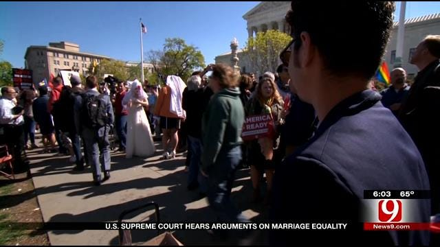 US Supreme Court Hears Arguments On Marriage Equality