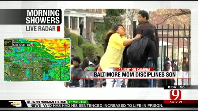 Mother Disciplines Son Involved In Baltimore Violence
