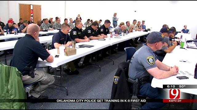 OKC Police Get Training In K9 First Aid
