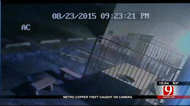 Security Cameras Show Alleged Thief At Metro Lawn Care Company