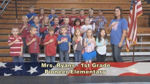 Mrs. Ryans' 1st Grade Class At Pioneer Elementary