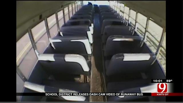 Mid-Del Schools Release Dash Cam Video Of 'Runaway Bus' Crash