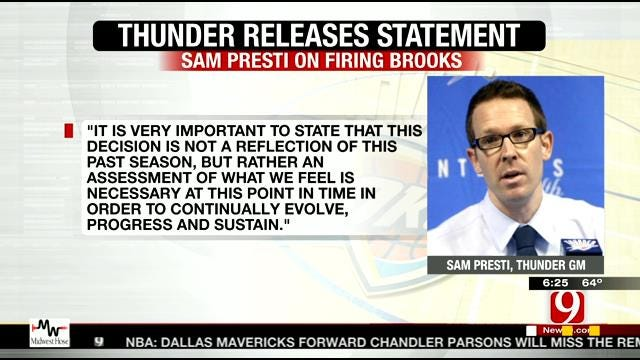 Thunder Fires Scott Brooks