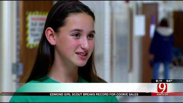 Edmond Girl Scout Breaks Record For Cookie Sales