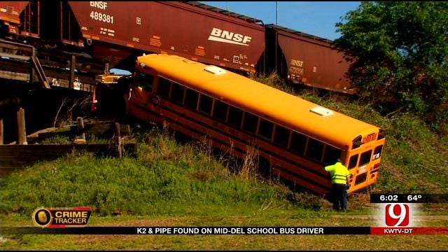 Synthetic Marijuana and Pipe Found On Mid-Del School Bus Driver After Crash