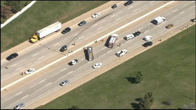 WEB EXTRA: SkyNews 9 Flies Over Crashes On I-235 At NW 23rd
