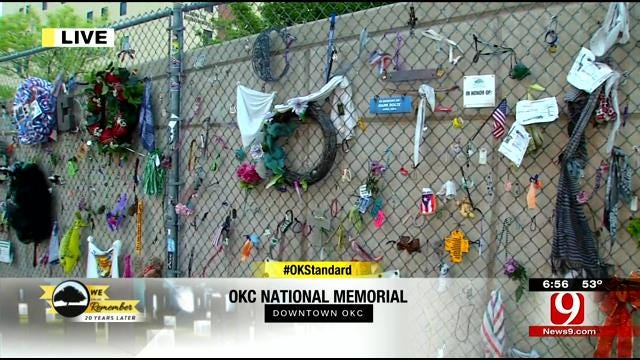 Woman Places Poem On OKC Bombing Memorial Fence In Honor Of Niece