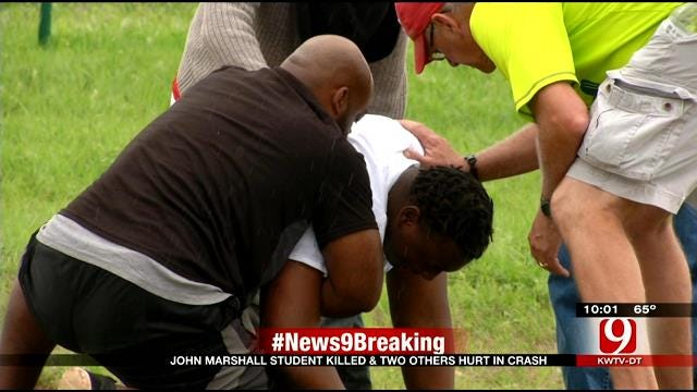 Loved Ones Overcome With Emotions After Crash Kills OKC Student