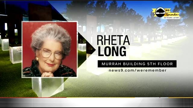 We Remember - 20 Years Later: Rheta Long