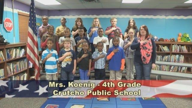Mrs. Koenig's 4th Grade Class at Crutcho Public Schools
