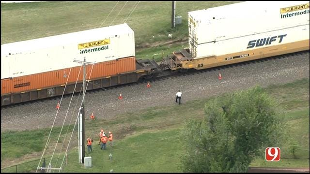 Emergency Crews Respond To Train Accident In Norman