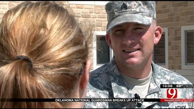 Stabbing Victim Thanks Oklahoma National Guardsmen For Saving Her
