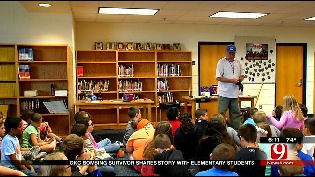OKC Bombing Survivor Shares Story With Elementary Kids