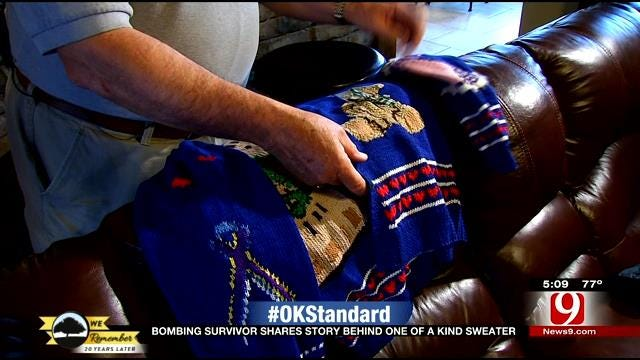 Bombing Survivor Shares Story With One Of A Kind Sweater
