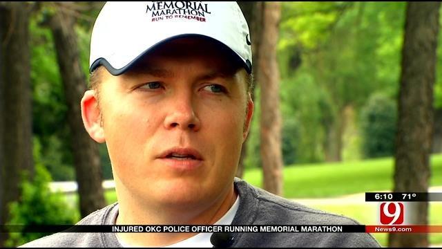 Injured OKC Police Officer Training For Memorial Marathon