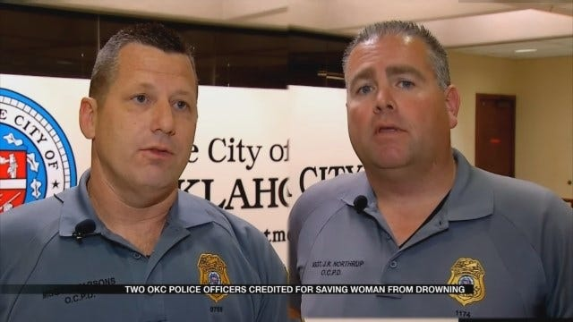 Two OKC Police Officers Save Woman From Drowning
