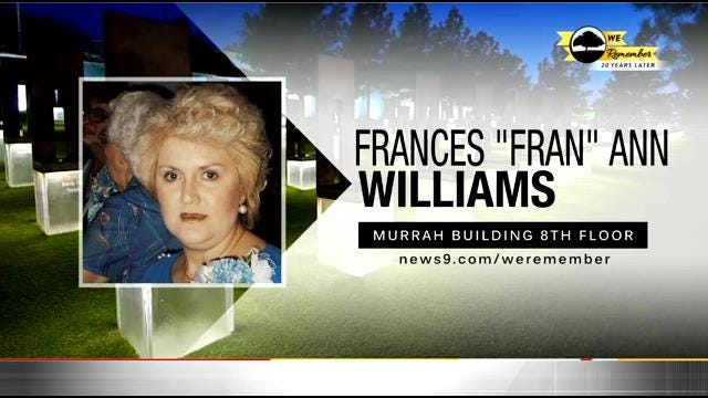 We Remember – 20 Years Later: Frances Williams