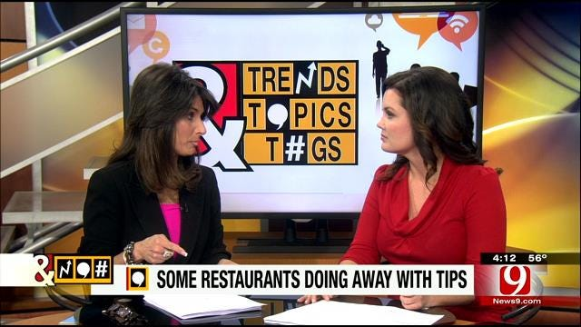 Trends, Topics & Tags: Some Restaurants Get Rid Of Tips