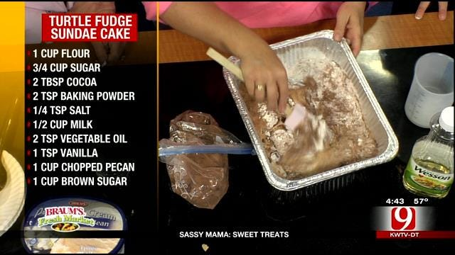 Turtle Fudge Sundae Cake