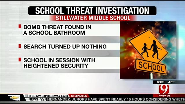 Heightened Security At Stillwater Middle After Bomb Threat