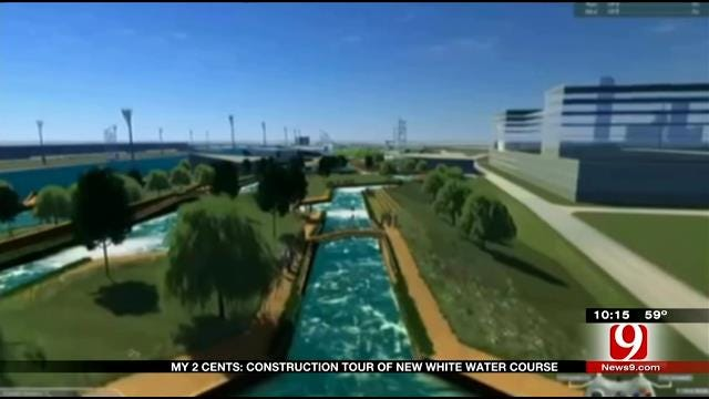 My 2 Cents: Construction Tour Of New White Water Course