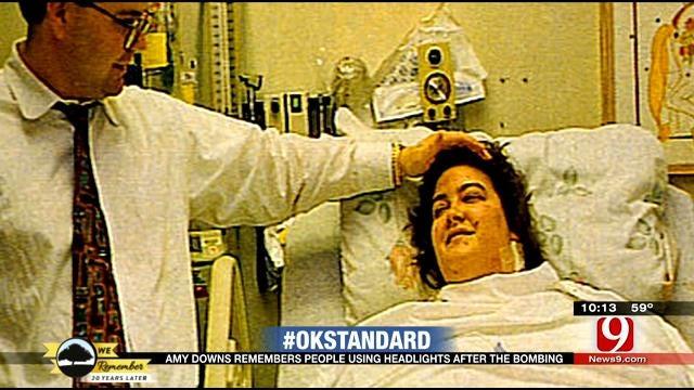 OKC Bombing Survivor Remembers Support Through Headlights