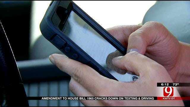 New Amendment To Bill Cracks Down On Texting And Driving