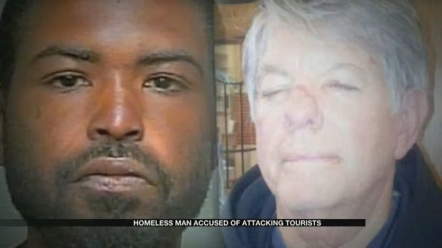 Homeless Man Arrested After Random Attack In Downtown OKC