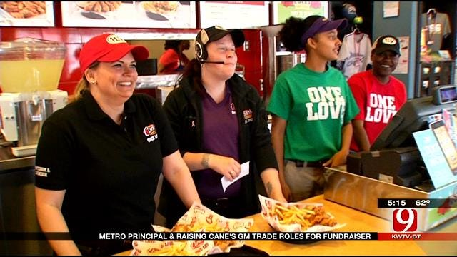Metro Principal and Raising Canes GM Swap Roles For School Fundraiser